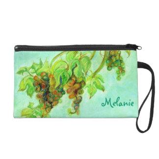 Green grape wristlet purse