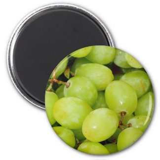 Green Grapes 2 Inch Round Magnet