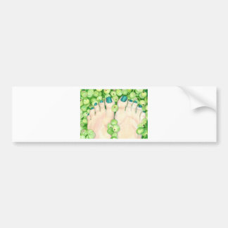 Green Grapes and Pedicure Bumper Sticker