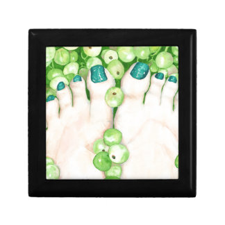 Green Grapes and Pedicure Gift Box