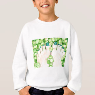 Green Grapes and Pedicure Sweatshirt