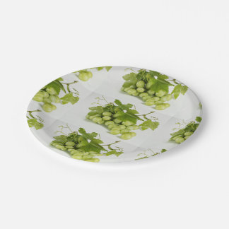 "Green Grapes Custom 7 "" Paper Plates 7 Inch Paper Plate"