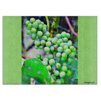 Green Grapes Cutting Board