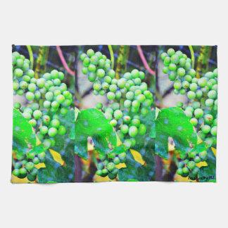 Green Grapes Kitchen Towel