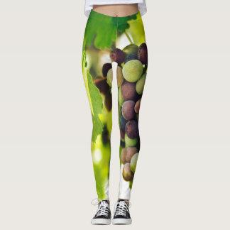 Green grapes leggings