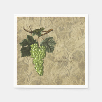 Green Grapes Vineyard Wine Tasting Party Paper Napkin