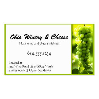 Green Grapes Wine Fruit Business Cards