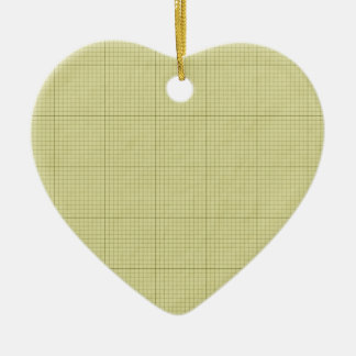 Green Graph Paper Ceramic Ornament