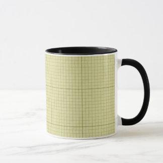 Green Graph Paper Mug