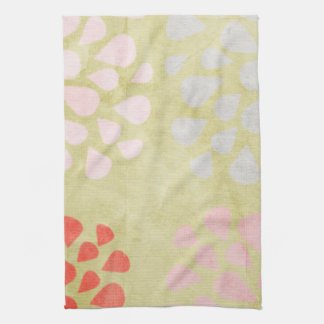 Green Graphic Floral Kitchen Towel