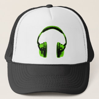 Green Graphic Headphones Trucker Hat