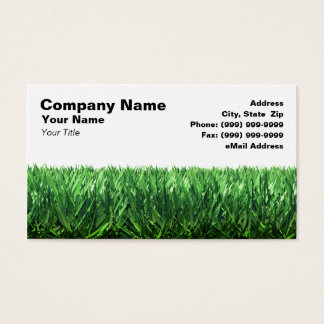 Green Grass Against White Background Business Card