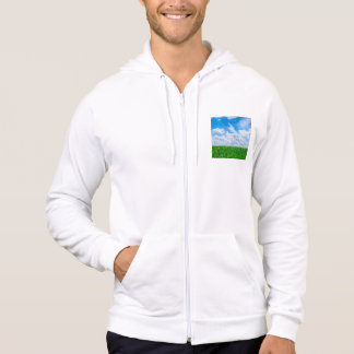 Green grass and blue sky hoodie