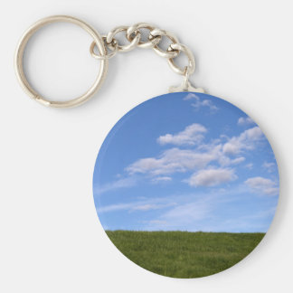 Green Grass and Blue Sky Keychain