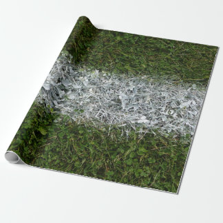 Green Grass and White Paint Sports Field Wrapping Paper