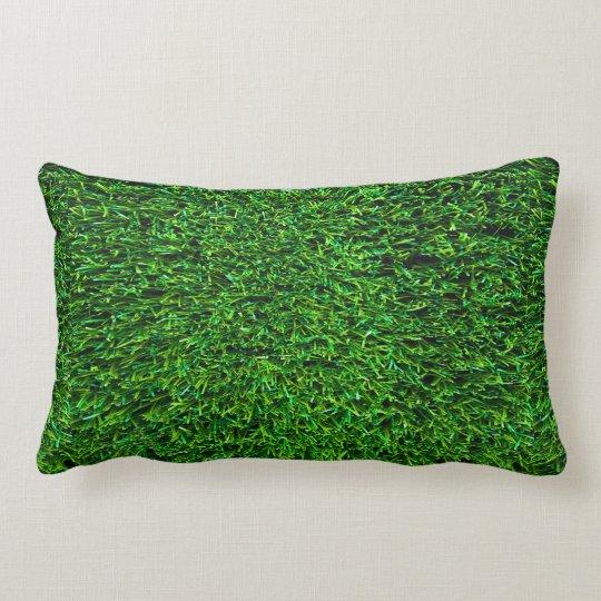 Green Grass Background Lumbar Pillow