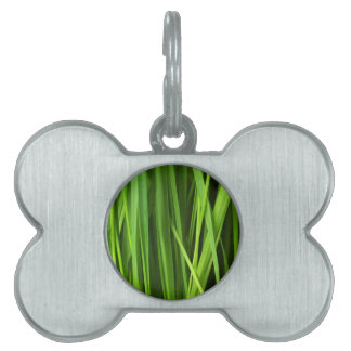 Green Grass background Pet Name Tags