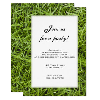 Green Grass Backyard Party Invitation
