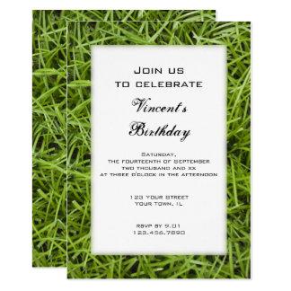 Green Grass Birthday Party Invitation