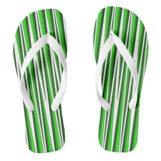 GREEN GRASS BLADES FLIP-FLOP FLIP FLOPS