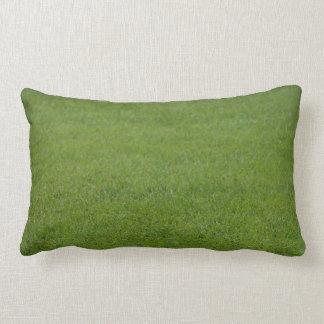 Green grass double sided lumbar cushion
