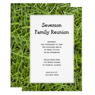 Green Grass Family Reunion Invitation