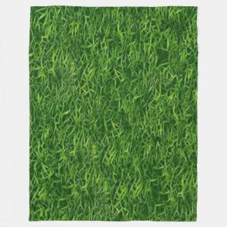 GREEN GRASS FLEECE BLANKET