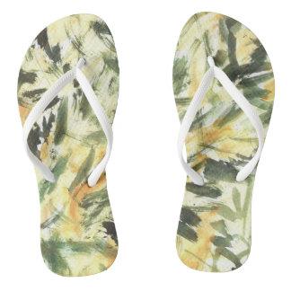 Green Grass Flip Flops