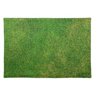 Green Grass Football Field Pattern Placemat