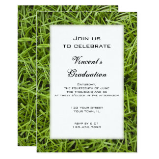 Green Grass Graduation Party Invitation