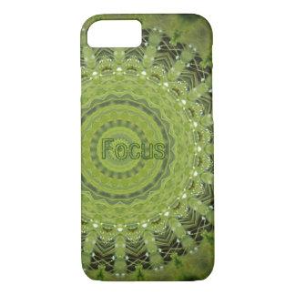 Green grass mandala with focus iPhone 7 case