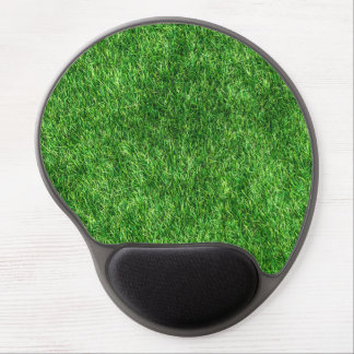 Green grass pattern gel mouse pad