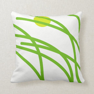 Green Grass Throw Pillow