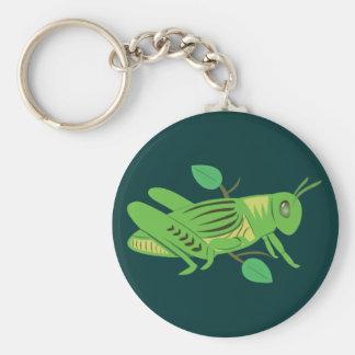 Green Grasshopper Keychain