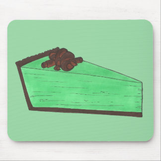 Green Grasshopper Mint Pie Slice Foodie Baking Mouse Pad