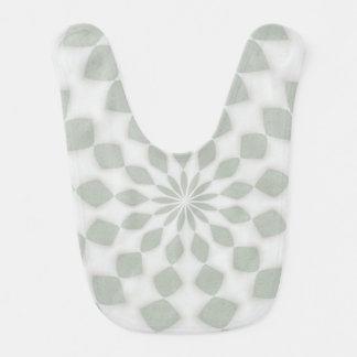 Green Gray Kaleidoscope Design Baby Bib