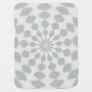 Green Gray Kaleidoscope Design Baby Blanket