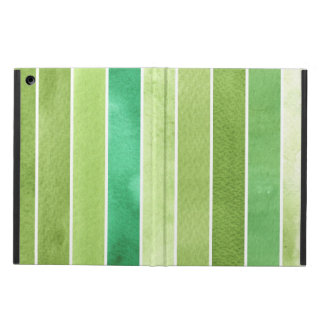 green great watercolor background - watercolor iPad air cases