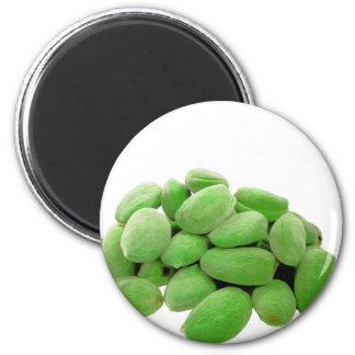 Green Green Almond 2 Inch Round Magnet