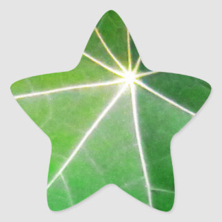 GREEN GREEN LEAF fresh healthy gift Star Sticker