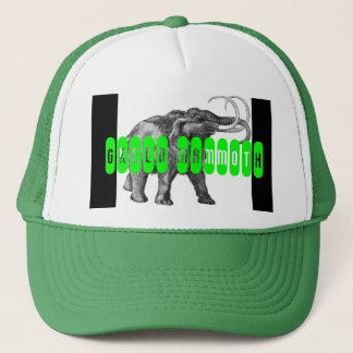 green, GREEN MAMMOTH Trucker Hat