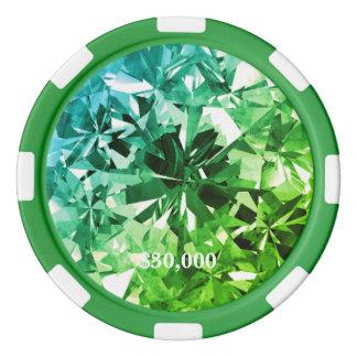 Green Greenleaf Filter Gem Stone Poker Chip