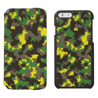 Green/Grey/Acid Yellow Camouflage Incipio Watson™ iPhone 6 Wallet Case