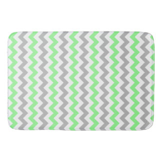 Green & Grey Chevron Bath Mat