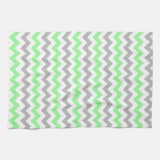 Green & Grey Chevron Kitchen Towel