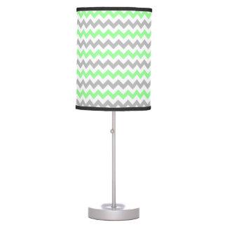 Green & Grey Chevron Lamp