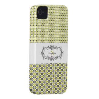 Green & Grey Graphic iPhone 4 Case-Mate Case