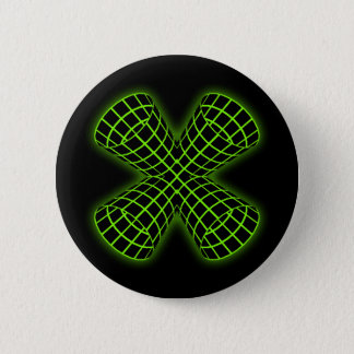 Green Grid Tubes 2 Inch Round Button