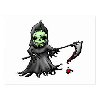 Green Grim Reaper Postcard