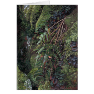 'Green Grotto' note card print